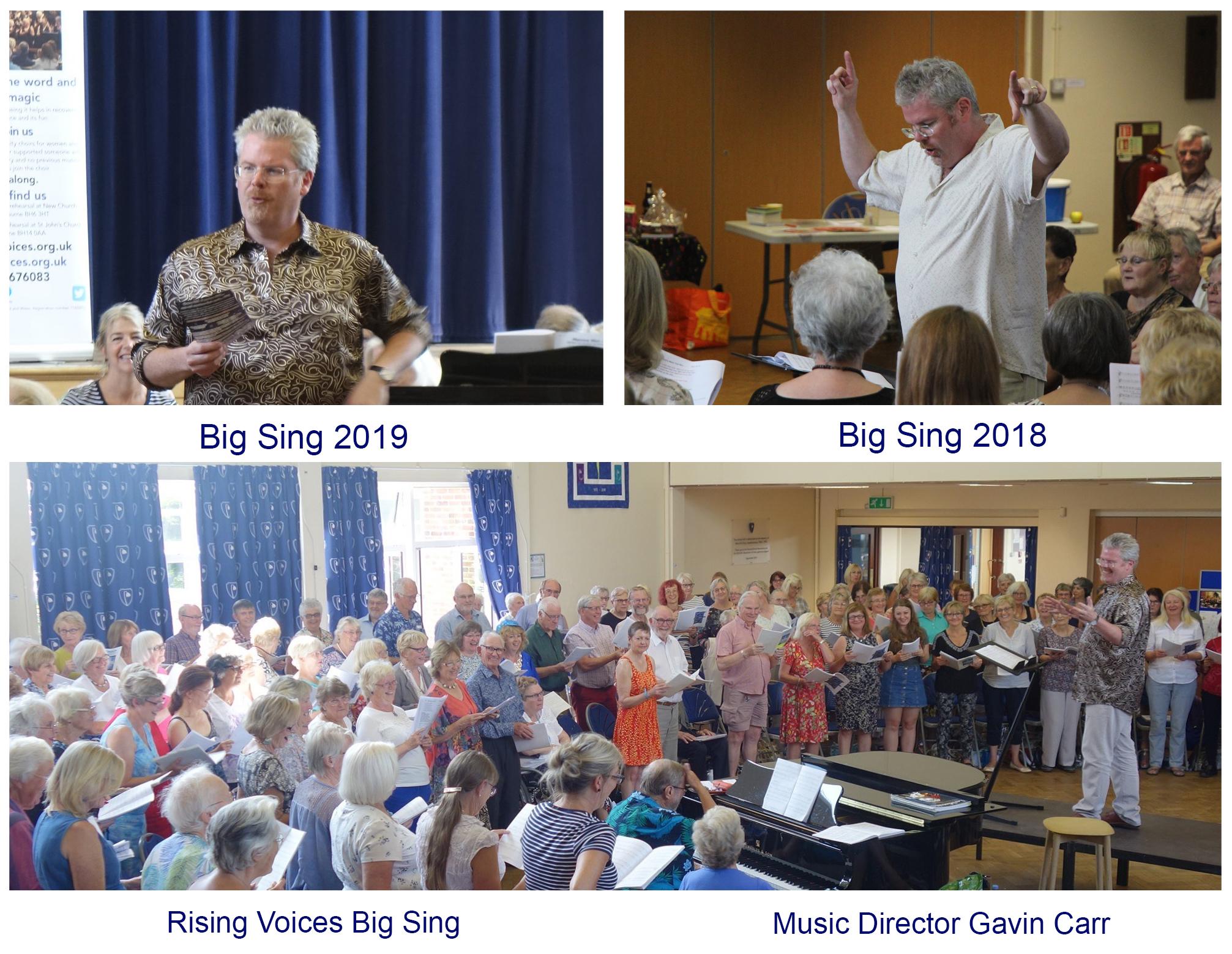 14th July Rising Voices Choir Gavin Carr Big SIng 2019 Concert